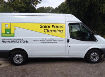 solar panel cleaning and pressure washing service