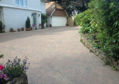 Block paving after sanding