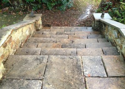 Stone steps after cleaning